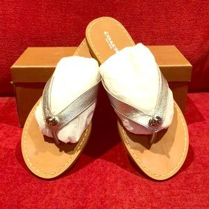 COACH Leather Flip Flop Sandals
